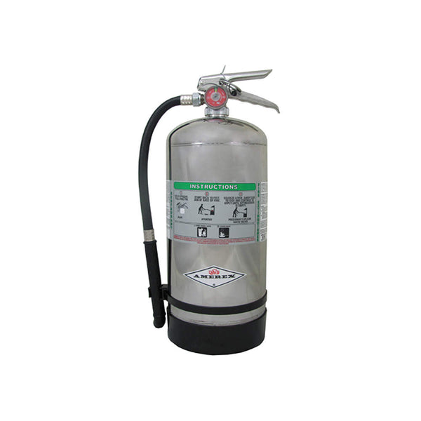 Wet Chemical Fire Extinguisher with 12.68 lb. Capacity and 53 sec. Discharge Time - addinstock