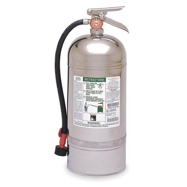 Wet Chemical Fire Extinguisher with 12.68 lb. Capacity and 55 to 60 sec. Discharge Time - addinstock