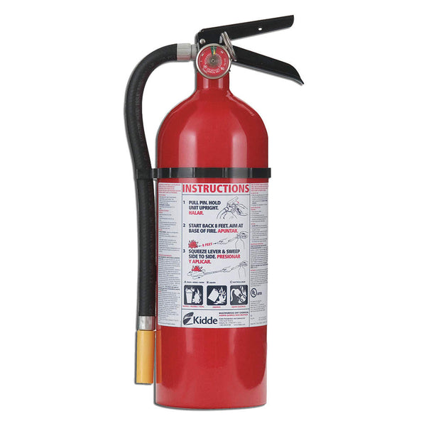 Dry Chemical Fire Extinguisher with 5 lb. Capacity and 13 to 15 sec. Discharge Time - addinstock