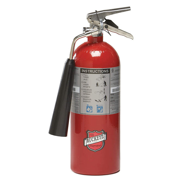 Carbon Dioxide Fire Extinguisher with 5 lb. Capacity and 8 to 10 sec. Discharge Time - addinstock