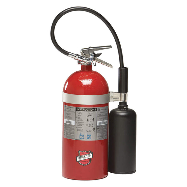 Carbon Dioxide Fire Extinguisher with 10 lb. Capacity and 8 to 10 sec. Discharge Time - addinstock