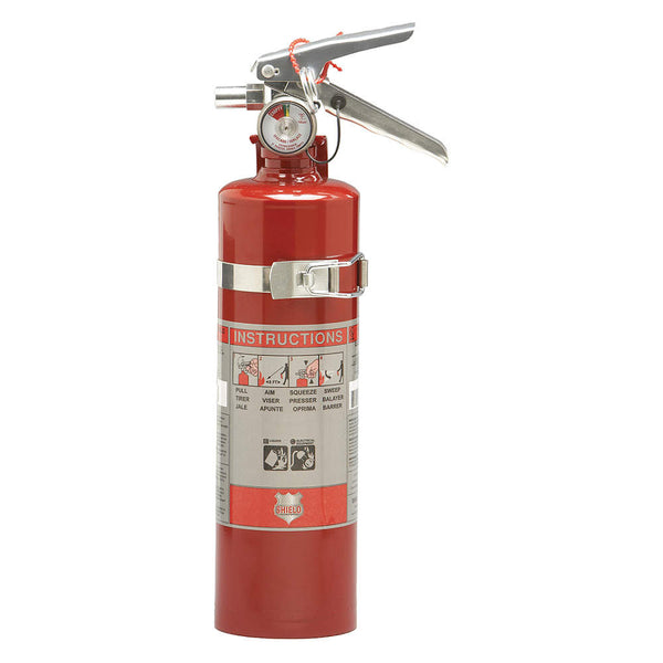Dry Chemical Fire Extinguisher with 2.5 lb. Capacity and 8 to 10 sec. Discharge Time - addinstock