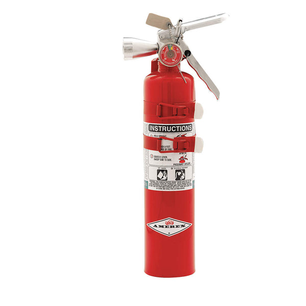 Halotron Fire Extinguisher with 2.5 lb. Capacity and 9 sec. Discharge Time - addinstock