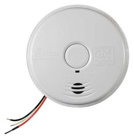 "5-1/2"" Smoke Alarm with 85dB @ 10 ft., Horn Audible Alert; 120VAC, Sealed Lithium Ion - addinstock"