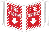 FIRE EXTINGUISHER SIGN, 12 X 18IN, WHT/R - addinstock
