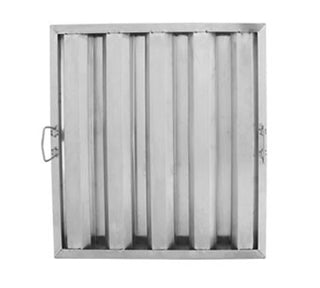 "Hood Filter, 16"" W x 20"" H, stainless steel hood baffle filter (Set of 5 Filters) - addinstock"