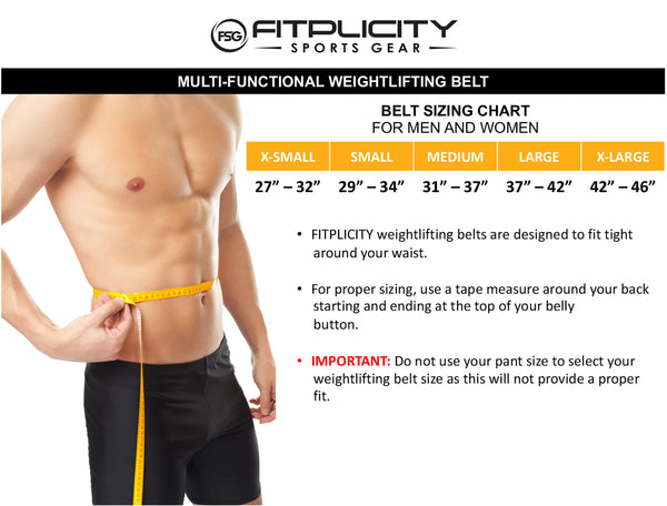 Weight Lifting Belt Size Chart