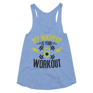 Fitplicity  Athletic Blue / XS Women's Tri-Blend Racerback Tank