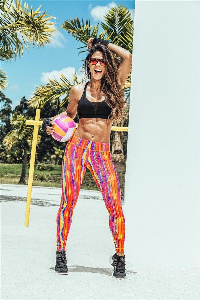 ORANGE STREAKS LEGGING