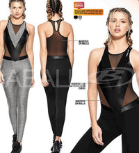 JUMPSUIT V WITH TRANSPARENCY