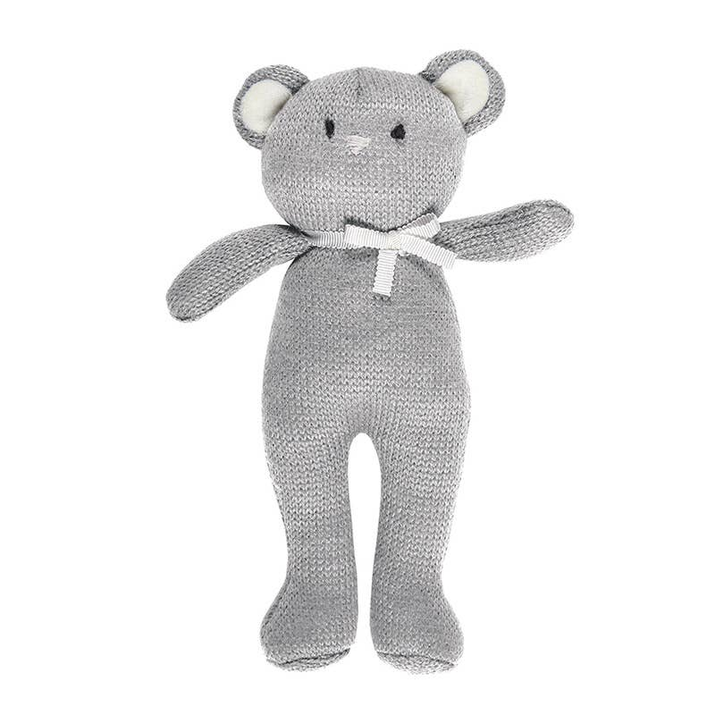 Gray Mouse Knit Toy
