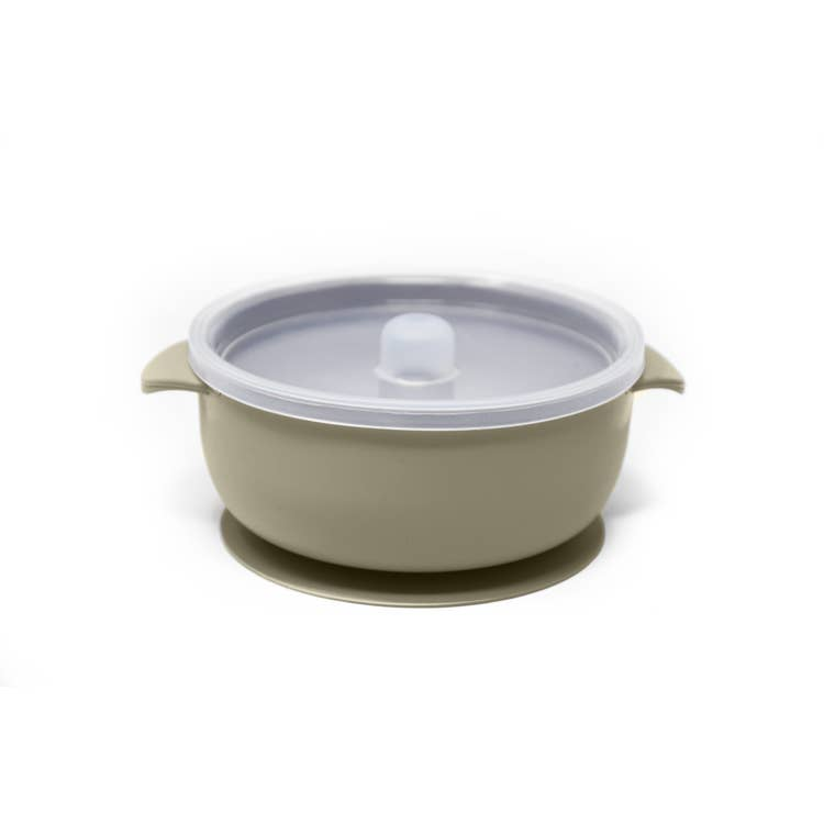 The Dearest Grey Baby Suction Bowls