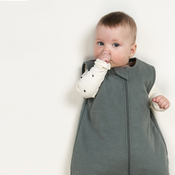 ORGANIC BABY SLEEPING BAG - PETROL