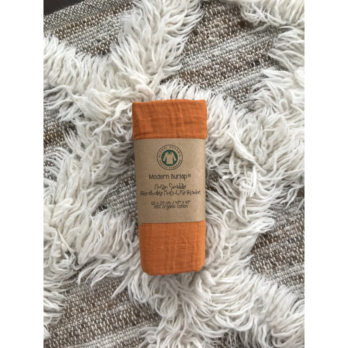 Organic Cotton Muslin Swaddle - Autumn Maple