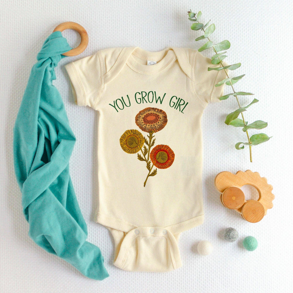 trendy baby clothes You Grow Girl - Onesie-The Trendy Bunny-0-6 months-The Trendy Bunny