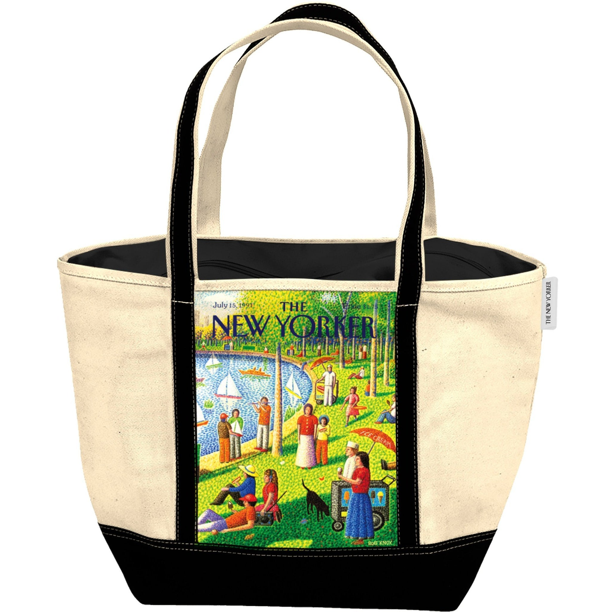 The New Yorker Sunday Afternoon in Central Park Tote Bag
