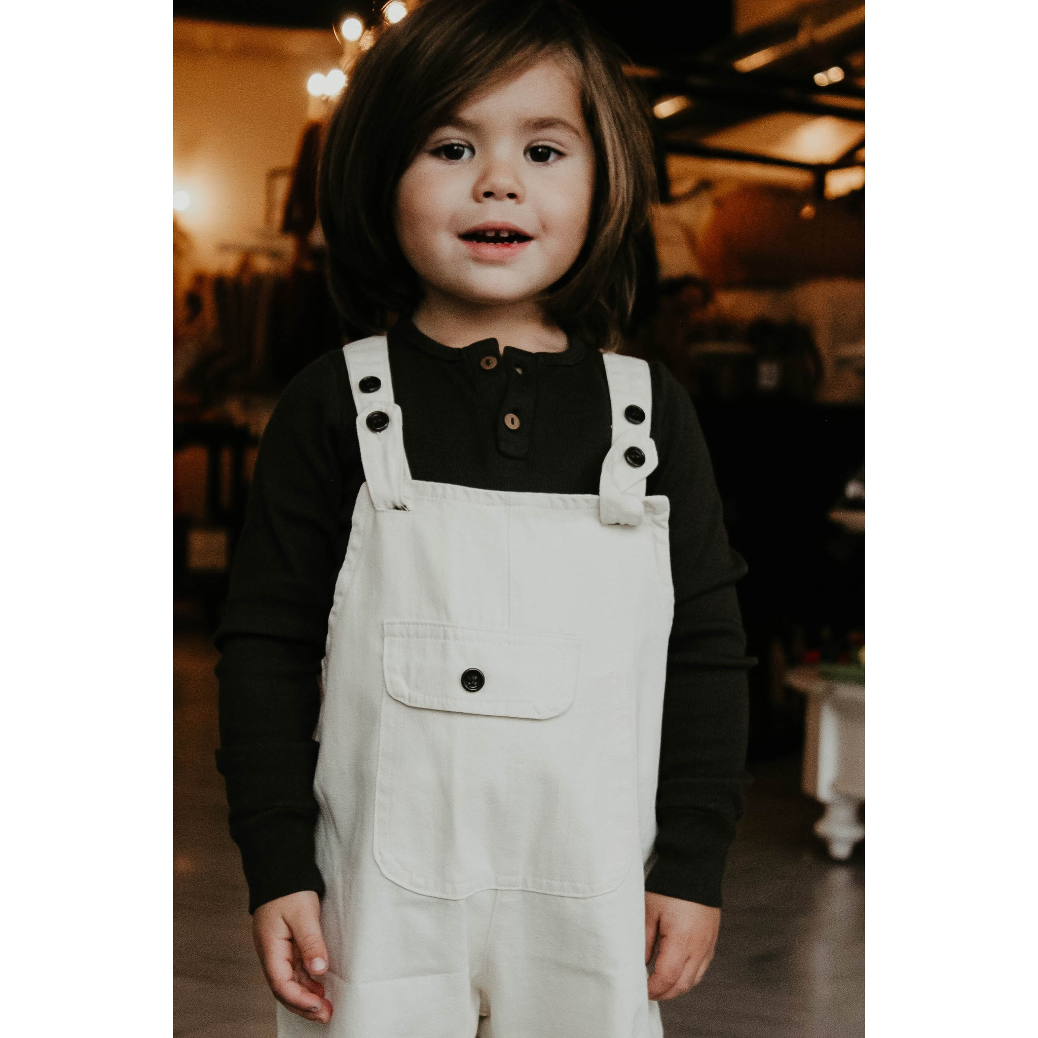 Cream Steel Cut Overalls