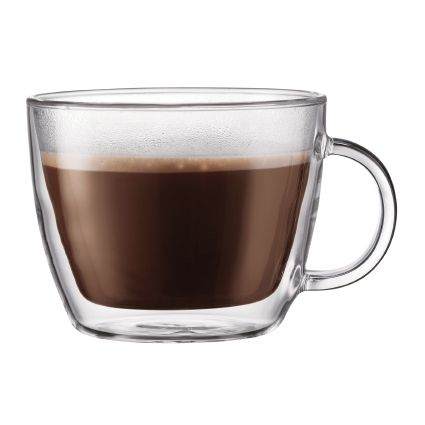 Bodum BISTRO 2 pcs café latte cup, double wall 15 oz