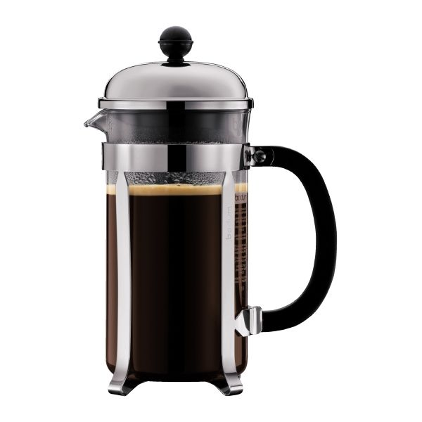 CHAMBORD Coffee maker, 8 cup, 34 oz Chrome