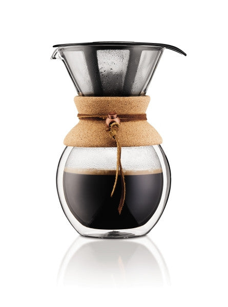 BODUM POUR OVER COFFEE MAKER - FREE 1 LB. OF COFFEE