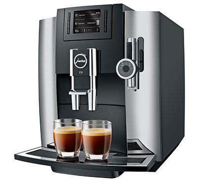 Jura E8 Chrome - Free coffee & Cups