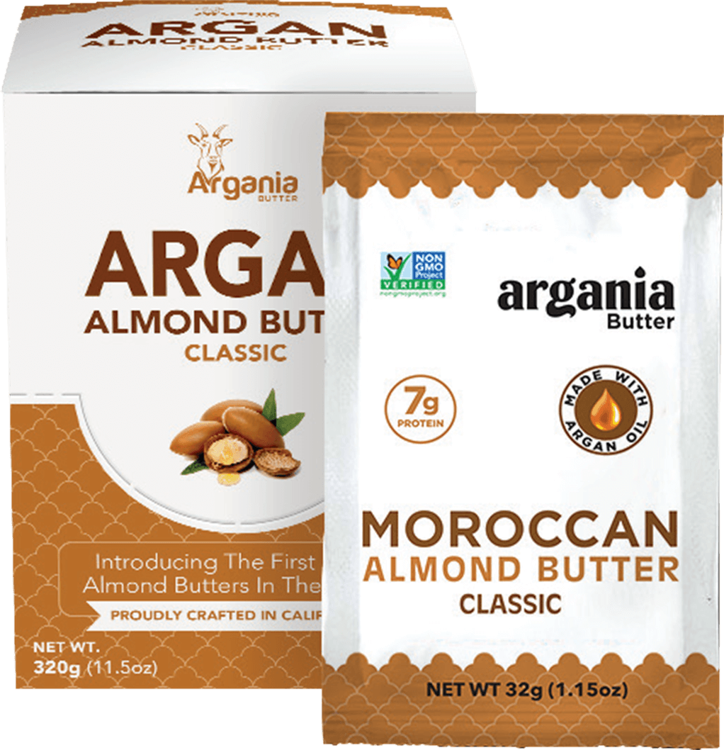 argania almond butter classic snack packs