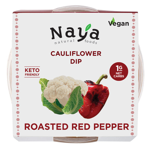 Keto Cauliflower Hummus,  Roasted Red Pepper- 4 Pack