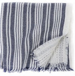 Striped Cloth Napkins with Fringe