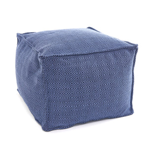 Petit Diamond Navy Pouf