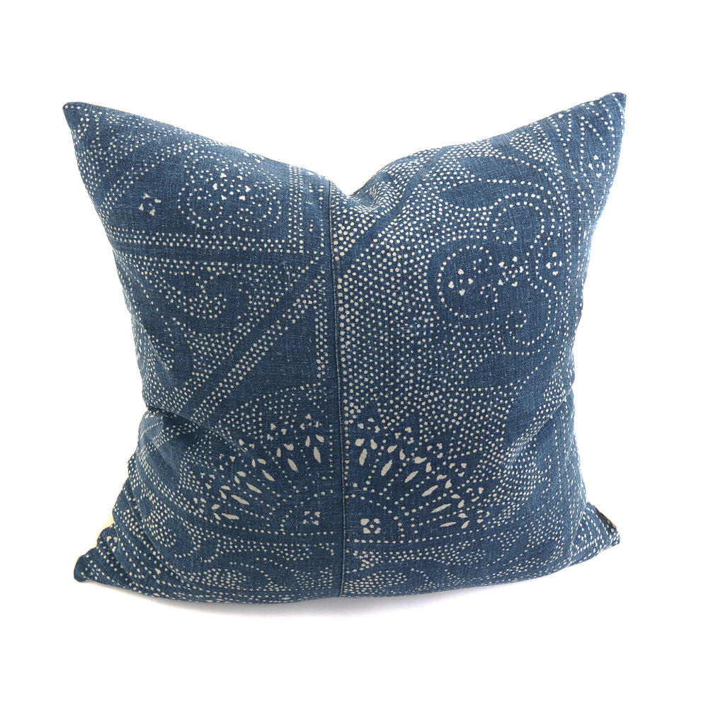 Batik Navy Vintage Pillow