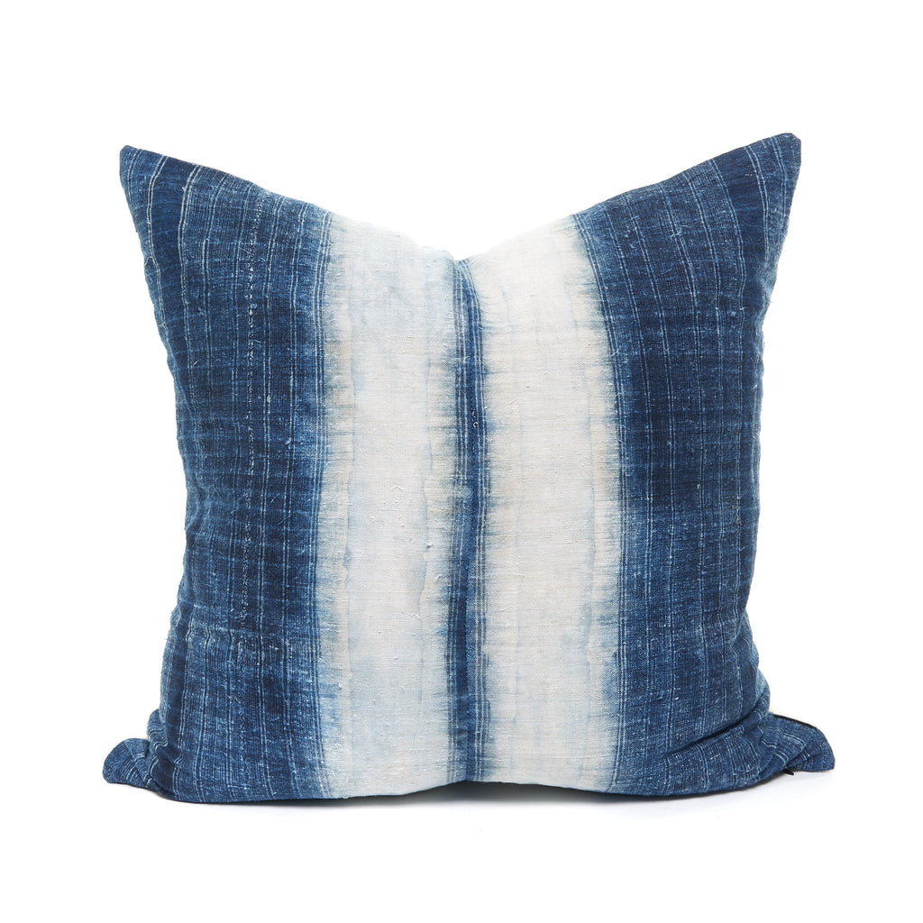 Hemp Navy Vintage Pillow
