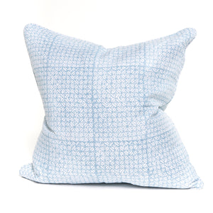 Batik Blue Linen Pillow