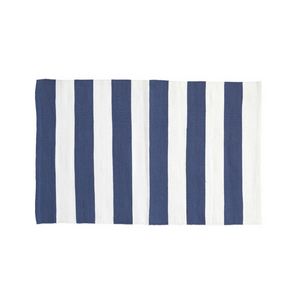 Catamaran Denim Striped Outdoor Rug
