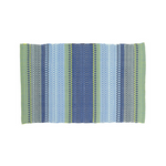 Fiesta Blue and Green Striped Rug