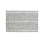 Melange Grey and Ivory Striped Rug