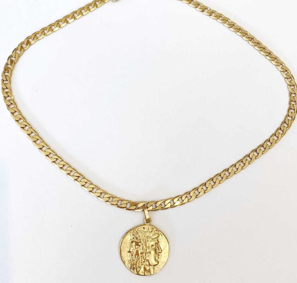 Newport Chain with Engraved Roman Coin