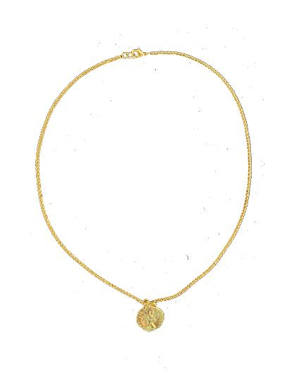 Rope Chain with Gold Greek Coin