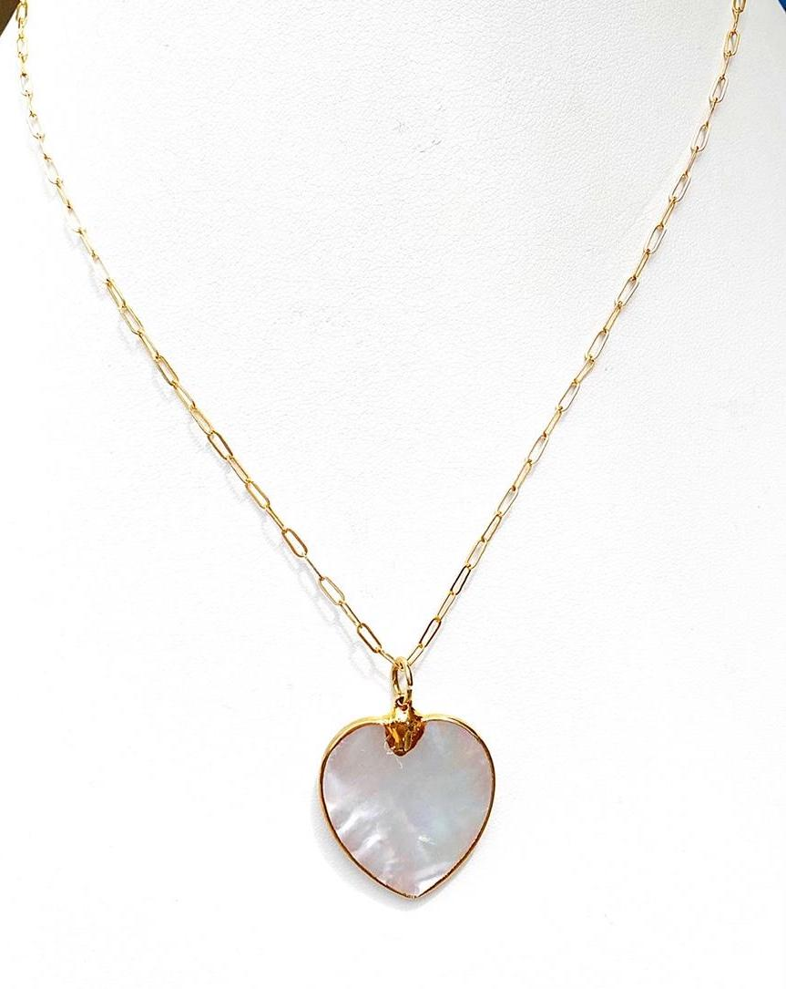 Sonoma Mother of Pearl Heart Necklace