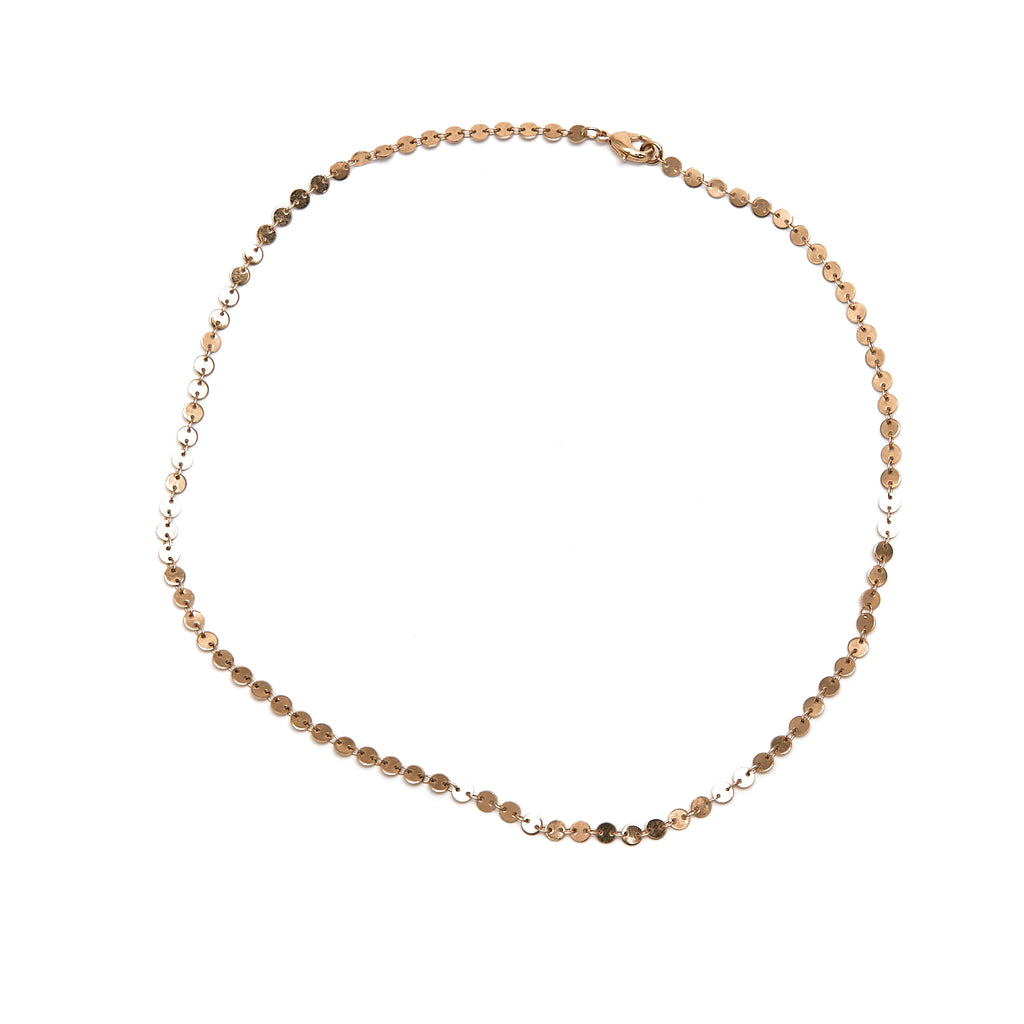 Petite Gold Disc Necklace