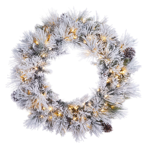 Flocked Pine Wreath