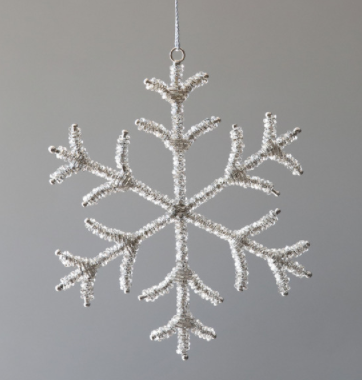 Glass Beaded Snowflake Ornament