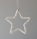 Glass Beaded Star Ornament