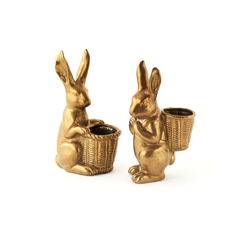 Gold Bunny with Basket