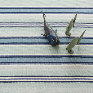 Barbados Green and Blue Striped Rug