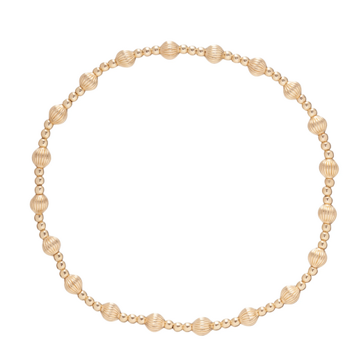 Gold Beaded Dignity Sincerity Bracelet