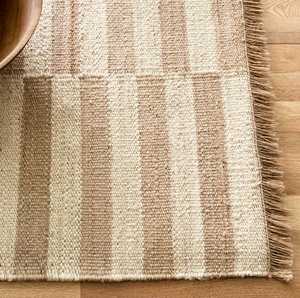 Ivory & Natural Woven Jute Rug