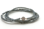 Petra Triple Wrap Bracelet with Blue Crystals