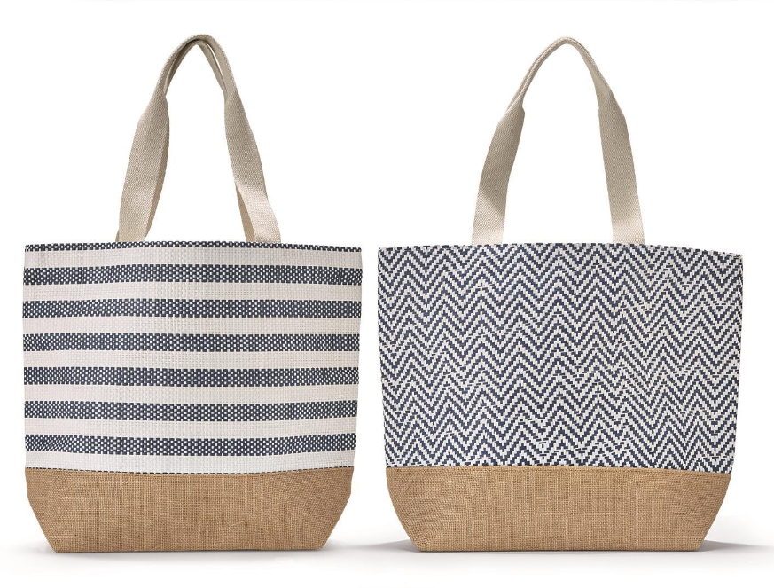 Blue and White Mykonos Tote