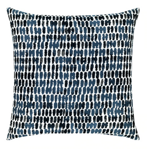 Thumbprint Indigo Outdoor Pillow
