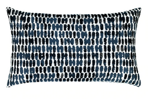 Thumbprint Indigo Outdoor Lumbar